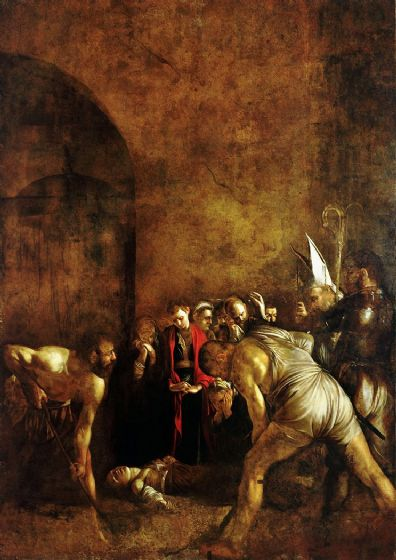 Caravaggio, Michelangelo Merisi da: The Burial of St Lucy. Fine Art Print/Poster. Sizes: A4/A3/A2/A1 (002075)